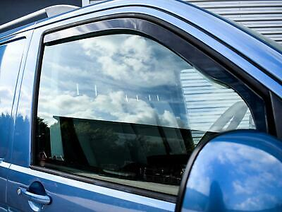 Heko 2pc Tinted Wind Deflectors Set Acrylic Pair for VW Transporter T6 (2015 on)