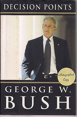 AUTOGRAPHED HAND SIGNED Decision Points by President George W. Bush COA FREE S&H