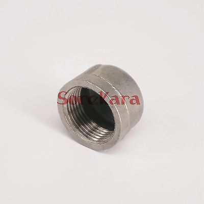 """1/2"""" BSP Female 304 Stainless Steel Pipe Fitting Countersunk End Cap"""