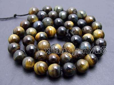 SALE small 8mm Round Blue natural tiger's-eye gemstone Beads strand-los697