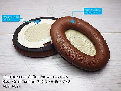 Coffee Brown Replacement Cushions Bose Quiet Comfort 2 Qc2 Qc15 Ae2 Ae2I Ae2W