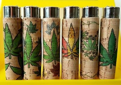 Clipper Lighter Cork Covers - Weed Leaf Cases - Rare Hand Sewn Designs