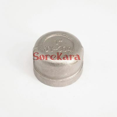 """1"""" BSP Female 304 Stainless Steel Pipe Fitting Countersunk End Cap"""