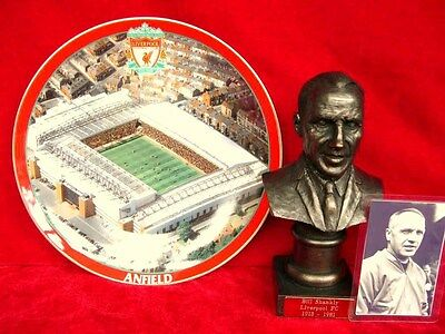 Danbury Mint Liverpool Anfield Plate And Bill Shankly By Legends Forever Bust