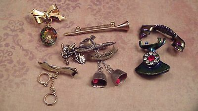 Vintage 50's, 60's Articulated Brooch LOT