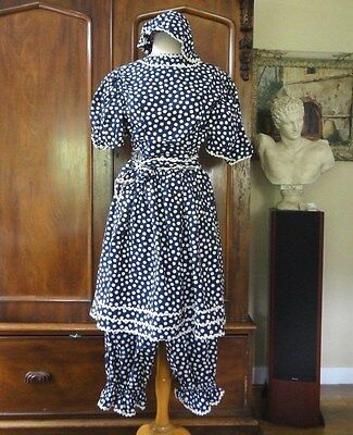 Vintage early 1900's Swimsuit Women's Bathing Costume Polka Dot 3 Pieces