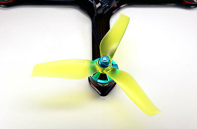 5x4.2x3 SCHUBKRAFT WINGS 3-Blatt Racing Propeller 5042 - SET 2x CW 2x CCW YELLOW