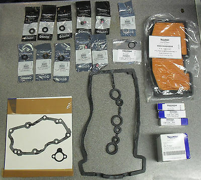 GENUINE TRIUMPH ENGINE SERVICE KIT - fits STREET TRIPLE / R from VIN 560477