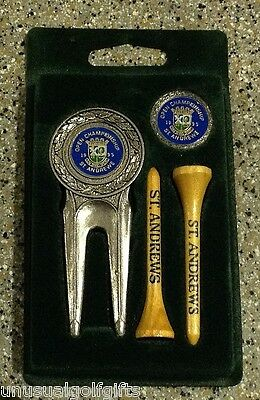 1995 OPEN CHAMPIONSHIP GOLF BALL MARKER DIVOT TEES SET BOXED - UNUSED 20yrs OLD