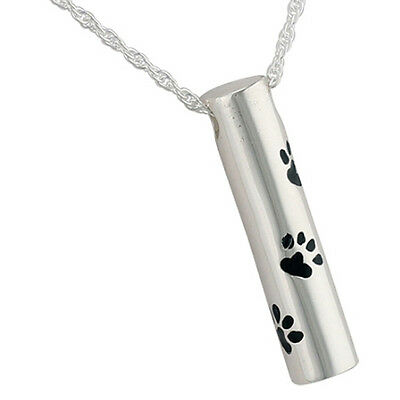 Cremation Jewellery for ashes Memorial Funeral silver paw pendant necklace Urn