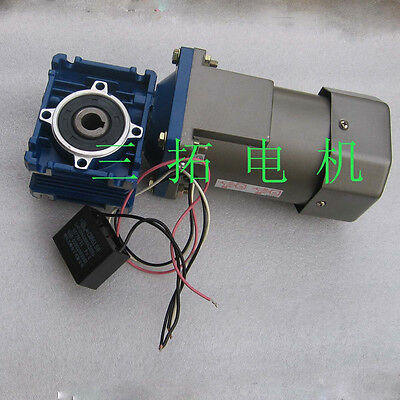 1Pcs AC220V Worm Gear Box Reducer Motor Large Torque 28RPM For Rolling Gate