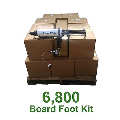 D I Y Spray Foam Insulation.5lb 6800 Board Ft Kit (Less than.40 a Board Foot!)