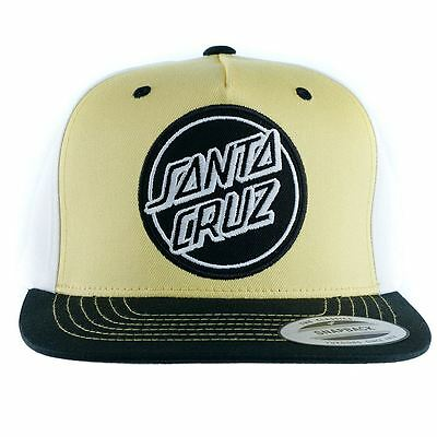 Santa Cruz Skateboards Reverse Dot Snapback Hat Yellow New Free Delivery
