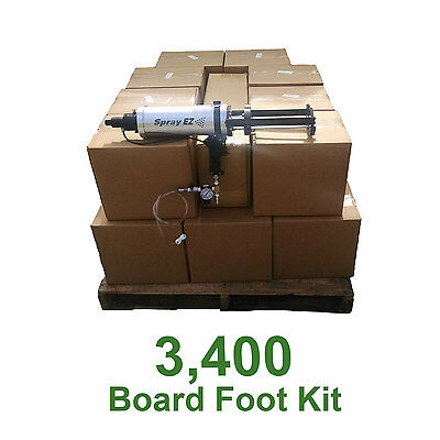D I Y Spray Foam Insulation.6lb Open Cell Urethane Foam 3400 board foot kit!