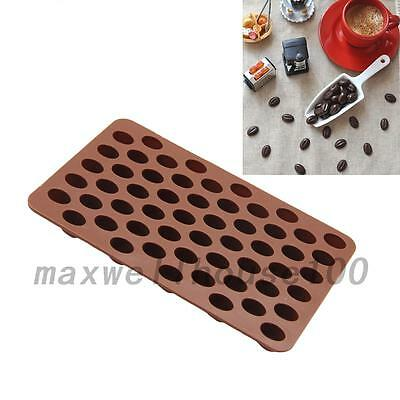 Portable Coffee Beans DIY Silicone Chocolate Cake Candy Soap Caking Mold