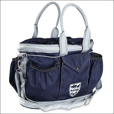 Blue Horze Horse Grooming Kit Tote Bag 600D Water Resistant Detachable Strap