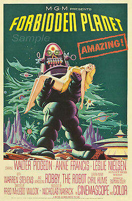 Fp03 Vintage Forbidden Planet Movie Poster A2 Print