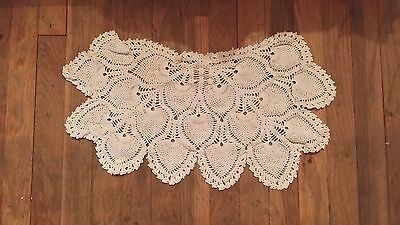 Vintage Hand Crochet Off White Doilie Free Shipping