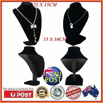Black Mannequin Necklace Jewelry Pendant Display Stand Holder Show Decorate E6