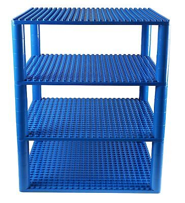 Strictly Briks Premium Blue Tower Organizer Set Includes 48 Round Stackers An...
