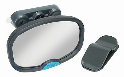 Munchkin BRICA Deluxe Stay-in-Place Mirror for in Car Safety Grey Pack of 1