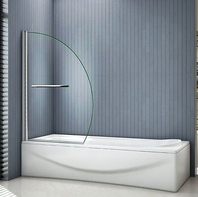 1000x1500mm Chrome 180° Pivot Bath Shower Screen 8mm EasyClean Glass With Handle