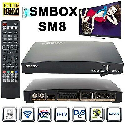 Genuine SMBOX Satellite Receiver Full HD 1080P Smart TV Box With All Channels...