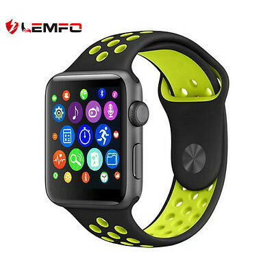 Lemfo 42mm Bluetooth Wireless Sport Pedometer Smart Watch Phone For Android IOS