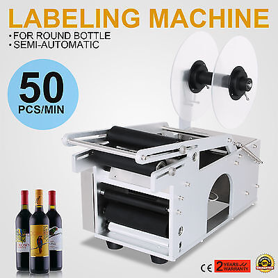MT-50 Semi-Automatic Round Bottle Labeling Machine With Date Accurate Labeler