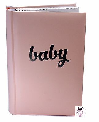 Baby Girl Pink Quality Photo Safe Archival 300 Slip In Photo Album Baby Gift