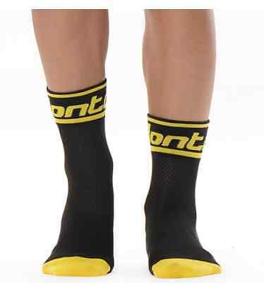 Cycling Socks Black/Yellow Ankle Length
