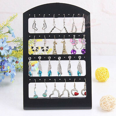 48 Holes Earrings Jewelry Show Display Rack Stand Organizer Holder Showcase