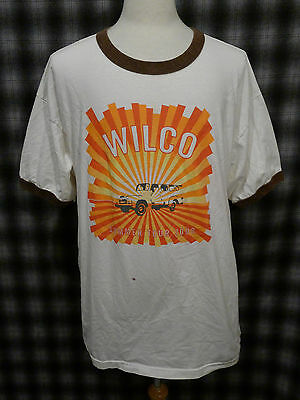 RARE 2008 Wilco 2XL Summer Tour T-Shirt Tee Ringer Double Sided Concert Dates