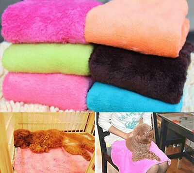 New Coral Soft Warm Pet Puppy Dog Cat Fleece Blanket Quilt Bed Cushion Pad BH