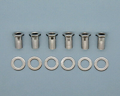 PBG Tuner (Machine Head) Inserts, Washers and Screws – Chrome – set of 6