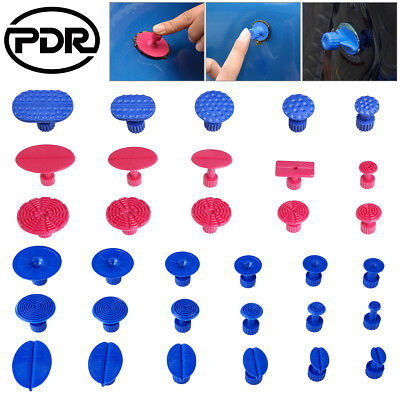 Paintless Dent Repair PDR Tools Glue Puller Tabs Hail Removal Pulling Kit 33pc