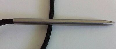 Paracord Fid/Lacing, weaving needle, St Steel, 3 Inches long w threaded shaft.