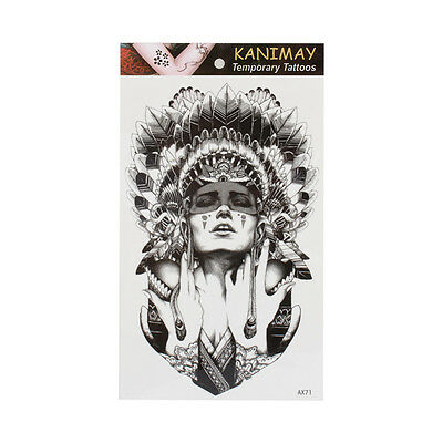 Henna Tribal Temporary Tattoo Sticker 3D Waterproof  Body for Tattoos for Adults