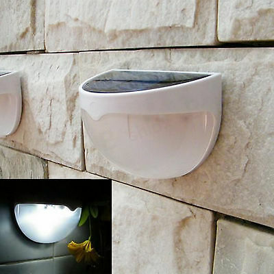 6 LED Solar Power Garden Outdoor Fence Light Yard Wall Pathway Lamp Stylish