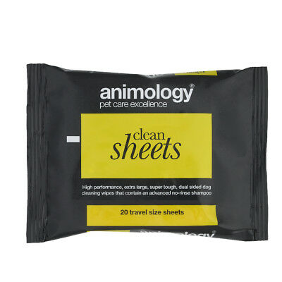 Animology Clean Sheets - 20 Pack - Cat & Dog Grooming