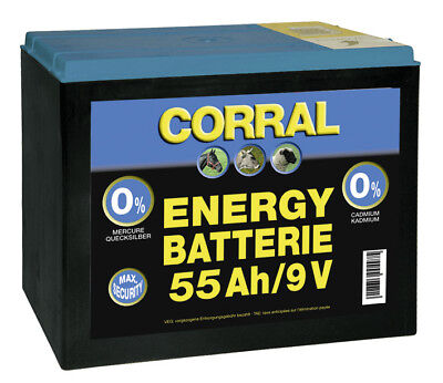 Corral Zinc-Carbon 55 Ah Dry Battery - 9V - Fencing