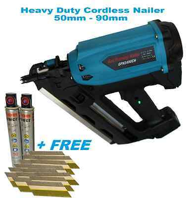Heavy Duty 90mm Framing Nailer- First Fix Cordless Gas Nailer