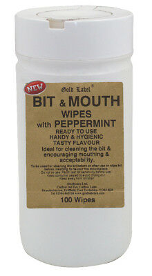 Gold Label Bit & Mouth Wipes - 100 Pack - Horse Care & First Aid