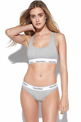 New CALVIN KLEIN Womens Bikini Brief Modern Cotton Grey