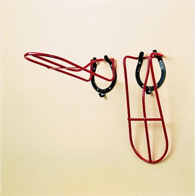 Stubbs Saddle Rack Detachable Horseshoe S18A - Red - Tack Room Equipment