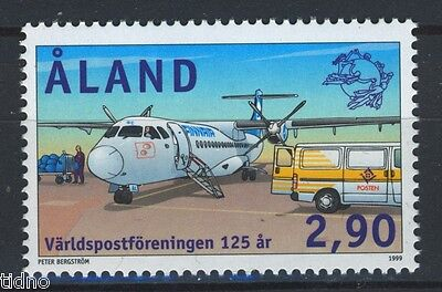 Aland/Åland 1999, UPU 125 years, airplane, aviation MNH