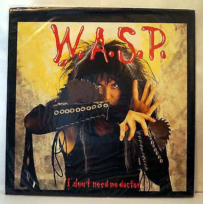 """WASP I Don't Need No Doctor UK 12"""" Blackie Lawless W.A.S.P."""