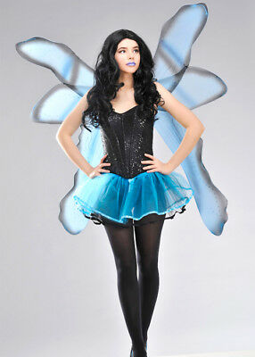 Large Blue Fantasy Fairy Wings