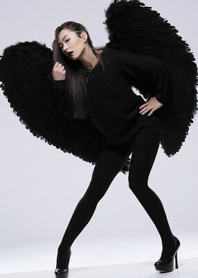 Deluxe Black Extra Large Angel Wings