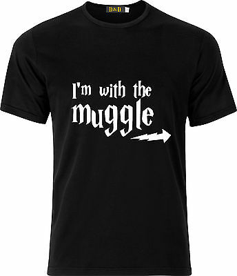Im With The Muggle Harry Potter Cotton  T Shirt
